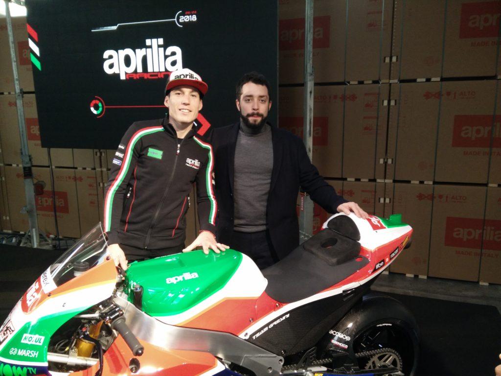(Italiano) Aprilia Racing Team 2018: Mecoil invitata alla presentazione dell'8 Marzo